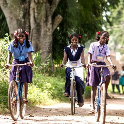 1 bicycle (heavyduty roadster) for school children living in rural areas to enable them to go to school and receive an education.
